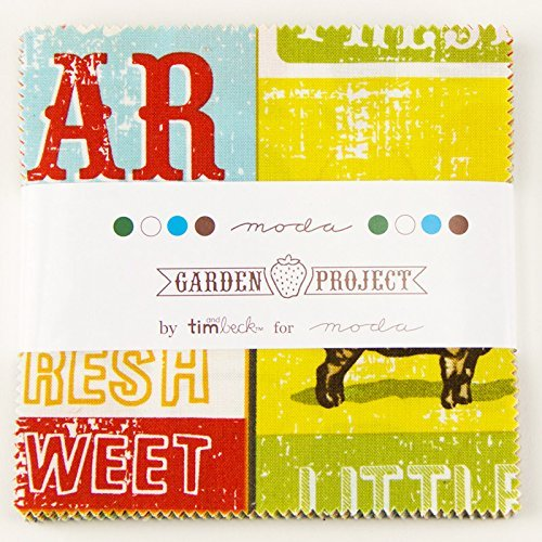 Garden Project Moda Charm Pack By Tim & Beck; 42 - 5 Quilt Squares by MoDA (Charm Packs Quilts)