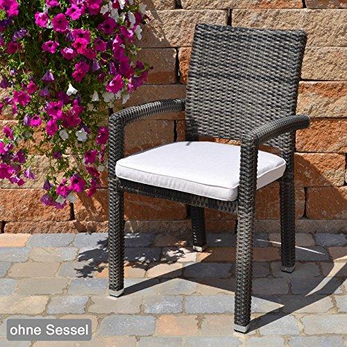 Sitzkissen mit Reißverschluss und Bindeband 49x48x6 cm in beige Caracas 50127-53 ohne Stuhl