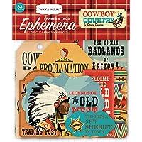 Carta Bella Paper Cowboy Country Frames & Tags Ephemera