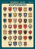 Schöne alte Zunftzeichen: Poster mit Beschreibung