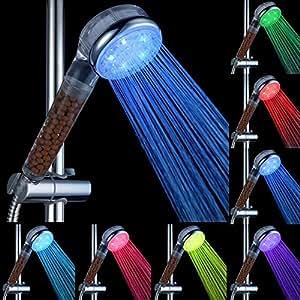 Randy 7couleurs LED Haut vaporisateur tête de douche, ions négatifs LED tête de douche