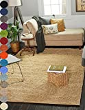 "A2Z Rug ( 70x140 cm (2ft5"" x 4ft6"") Salmon ) Cozy Shag Collection Solid 5.5 cm Pile Shag Rug Contemporary Living & Bedroom Soft Shaggy Area Rug, Carpet"