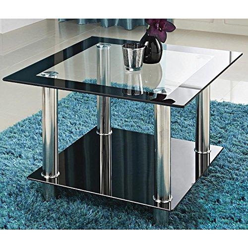 Glastisch »Phoenix« 60 x 60 x 43 cm Couchtisch Beistelltisch Wohnzimmertisch Seitentisch Esszimmertisch