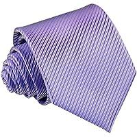 Panegy uomo casual formale da matrimonio lavoro costume Stripe cravatta pre-legato cravatta, 9colori disponibili viola Light Purple Size(L*W):(57.08