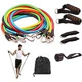 مجموعة معدات متعددة الاستخدامات لتمارين اللياقة البدنية مكونة من أحزمة لتمارين المقاومة مع أحزمة قابلة للتكديس للتمارين الريا