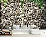 BHXINGMU Wandbild Individuelle Fototapeten Steinwand-Stil Kunsttapete Große Schlafzimmerwanddekoration 250Cm(H)×360Cm(W)