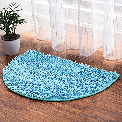 Preisvergleich Produktbild Lx.AZ.Kx Fußmatten Chenille Wasseraufnahme Pin die Bäder sind En-Suite Badezimmer Tür Rutschfeste Fußstütze Blau, 40 Cm x 60 Cm