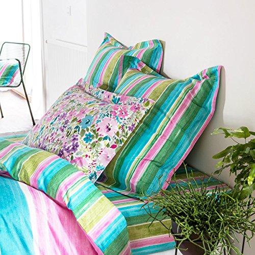 Parure de lit imprimée fantaisie 100% satin de coton 80 fils