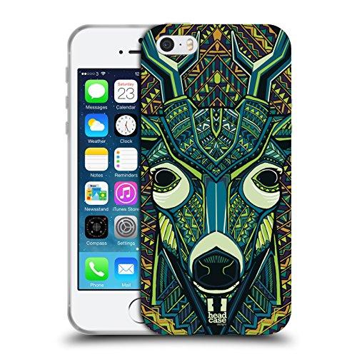 Head Case Designs Serpent Animaux Aztèques Serie 6 Étui Coque en Gel molle pour Apple iPhone 6 / 6s Cerfs