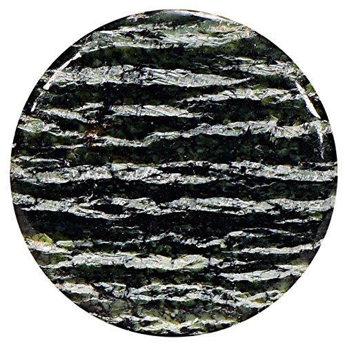 3 mm Edelstein grüner Zebra Jaspis Chakren Scheibe Halsketten-Anhänger und zur Stärkung ()