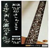Griffbrett Marker Inlay Aufkleber Decals für Gitarre–Oriental flowers-wp