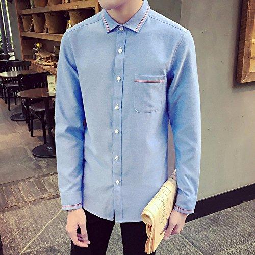 La Camicia Nuova Maglietta Maniche Lunghe _ Camicia A Maniche Lunghe, Corrisponde Tutto Semplice Navy Blue