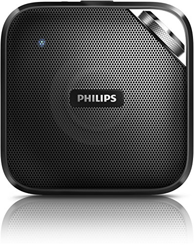 Philips BT2500B/00 - Altavoz portátil (Bluetooth, micrófono integrado), negro