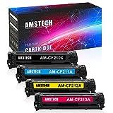 Amstech 4 Pack Kompatibel für Toner HP 131X CF210XCF211A CF212A CF213A 131A CF210A für HP Laserjet Pro 200 Color MFP M276n M276nw M251n M251nw Toner Laserjet MFP M276 M251 Series N NW Schwarz