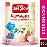 """Nestle introduces CEREGROW™ Nutripuffs Banana and Strawberry, for the 1st time in India, a healthy snack created especially for children aged 2 to 5 years. It is a cereal snack with the goodness of Vitamin B1 and Iron. These nutrients help support g..."
