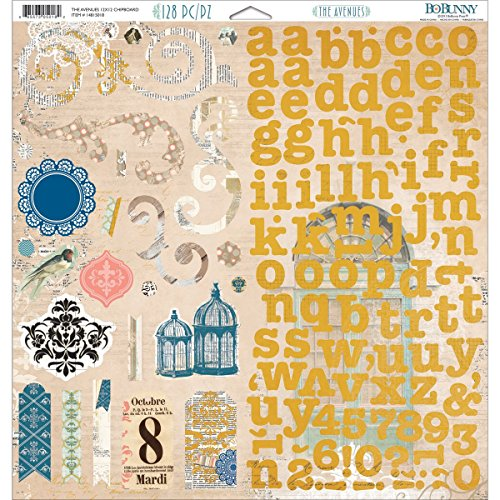 Bo Bunny 12x12 Paper (Bo Bunny 12x 12Zoll The Avenues Spanplatte, Mehrfarbig)