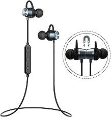 Mpow Bluetooth Kopfhörer, In Ear Sport Kopfhörer IPX6 Wasserdicht, 7 Stunden Spielzeit/Stereo Sound/HD-Mikrofon/Metallgehäuse, Sportkopfhörer Joggen/Fitness/Yoga, Magnetisches Headset für iPhone Android Samsung iPad Huawei HTC usw