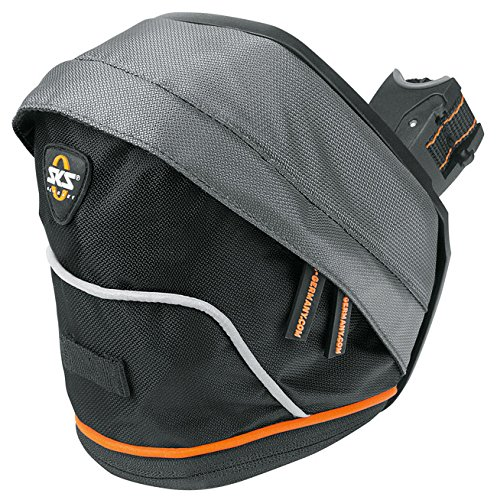 SKS TOUR BAG   ALFORJA PARA SILLIN  COLOR NEGRO Y GRIS TALLA:LARGE