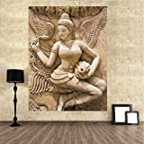 TOTAL HOME: PARI LADY SIZE (2FT * 4FT ) / Wall Art Picture Canvas Painting Home Decor Wall Pictures For Living Room No Framed /Large Handpainted Lovers Rain Stree Tree Lamp Landscape Painting On Canvas Wall Art Picture For Home Decoration Wall Decor/ Wall