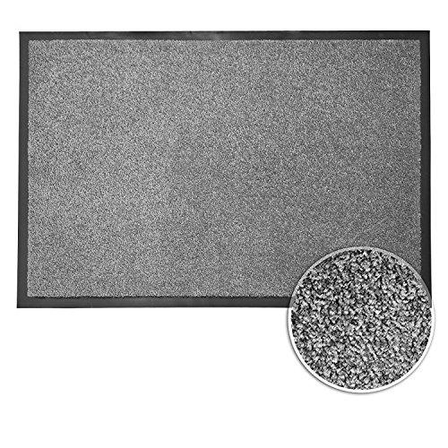 Felpudos Entrada de Casa antisuciedad alfombrilla de entrada | gris, poliamida caucho, Gris, 60 x 90 cm