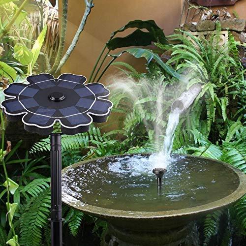 PIONIN 2.5W Solar Springbrunnen Solar Brunnenpumpe In-Ground 360 ゚ Rotationssonnenkollektor mit 10 Fuß Schnur Wasserdichte Pumpe Landschaft Schwimmende Brunnenpumpe für Garten-Pool-Dekoration