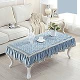 Anjcd Paño De Mesa Estilo Europeo Lace Stitching Mantel Rectángulo ( Color : 12# , Tamaño : 90*140cm )