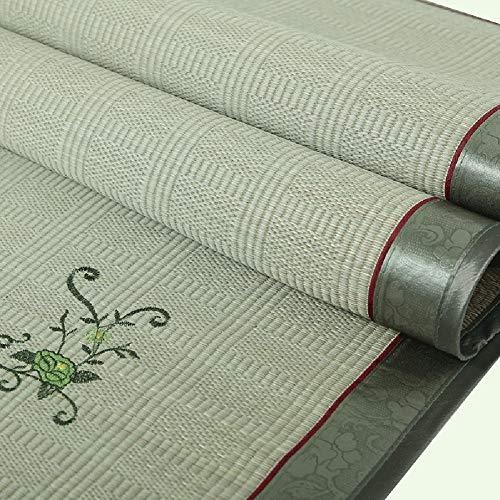 Bambus Matratzen Bettmatte Matratzen Sommer-Schlafmatten Strohmatte Teppiche Natürlich Strohmatte Faltbar Zuhause Schlafzimmer 3-teiliges Set 1,5/1,8 M (Size : 1.8x2.0m) (Teppich Bambus 5x8)
