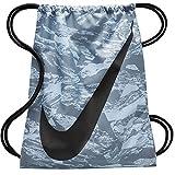 Nike Young Leichtathlet Beuteltasche Kordelzug Gymsack Rucksack Sport Schultasche (Cool Grey Swirl und Signature Swoosh Logo)