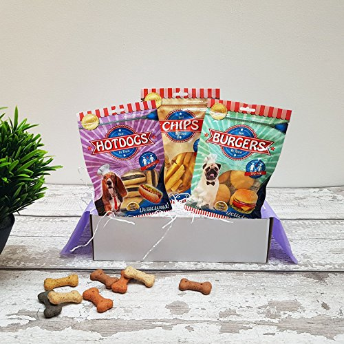 Poochie Presents Dog Treat Box Present Gift Hamper - The United Tastes Of America