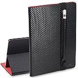 Funda para iPad Pro 9.7 Slim Fit Folio Carcasa, SHANSHUI Estilo de Libro con Stand Función,Soporte de Apple Lápiz para Apple iPad Pro 9.7 Pulgadas( Rayas,Negro)