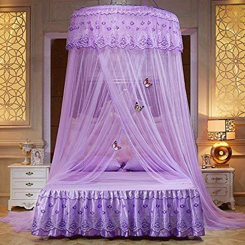 ASOSMOS Runder Vorhang Kuppel Prinzessin Queen Bed Baldachin Netze Moskitonetze Home Aufkleber Prinzessin Bettnetze Neu