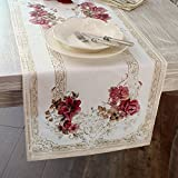 Runner Vintage Shabby chic Hofburg Collection Blanc Mariclo' 45 x 150