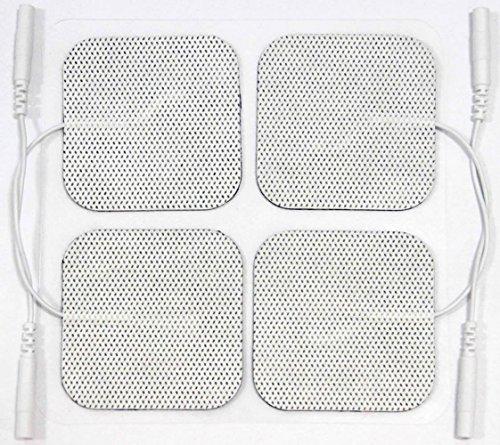ZSZBACE 40PCS Tens Einheit Elektrodenpads Ersatz für Tens EMS Massage, 2. Generation Latex-Freie Ersatz-Elektroden-Patches mit verbesserten Self-Stick-Leistung und Nicht gereizte Design (Stil-elektrode)