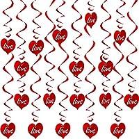 Espirales Colgantes de Corazón Decoraciones de Día de San Valentín Remolino Decorativo para Techo de Fiesta