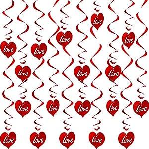 Espirales Colgantes de Corazón Decoraciones