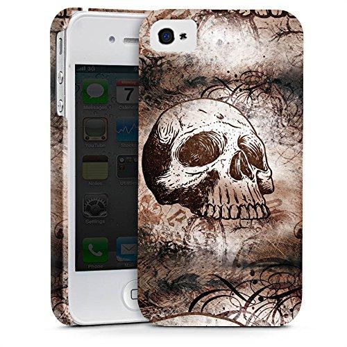 Apple iPhone X Silikon Hülle Case Schutzhülle Halloween Totenkopf Skull Premium Case glänzend