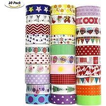 Washi Tape, Buluri 30 Rolls Washi Masking Tape Dekorative Klebeband für Scrapbooking DIY Handwerk (Washi Tape)