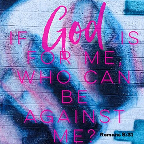 Wandsticker, christliches Zitat, Bibelvers, Aufschrift If God is for me who can be Against me Romans, 8:31 Gott Jesus Christus, Geschenk ()