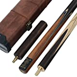 CUESOUL Classic Handmade 57 Rosewood 3/4 Piece Snooker Cue + Cue Case and Extension