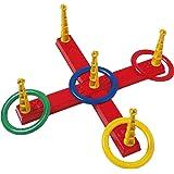 Simba 107408799 – ringkastsspel kors, 47 x 47 cm, diameter ring varje 14,5 cm
