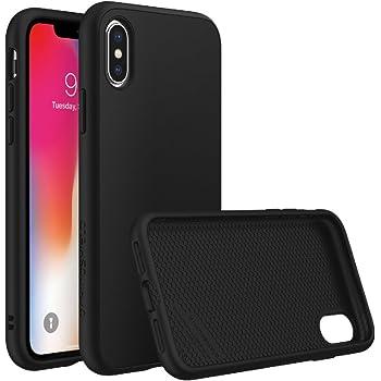iPhone X Case [RhinoShield SolidSuit] | Schock Absorbierende Schutzhülle mit Premium Finish [3,5 Meter Fallschutz] - Classic Schwarz