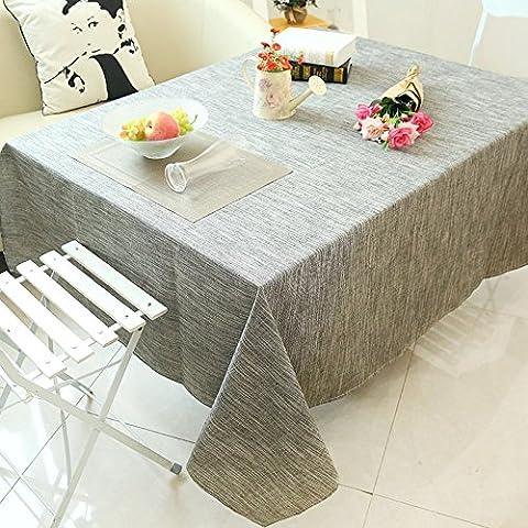 ZBES Mesa de centro de mesa de mantel jardín estilo japonés hecho de gris de paño de lino , gray ,