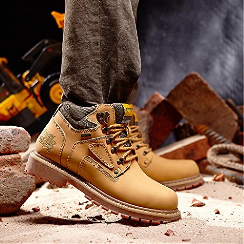 HHYAtmungsaktive tragen Sie bequeme Mode leder Gehrock  Student retro Desert Boots Martin Stiefel