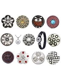 Morella 11 clips con colgante de acero de 70 cm y pulsera, diseño de sol, luna y brillantes