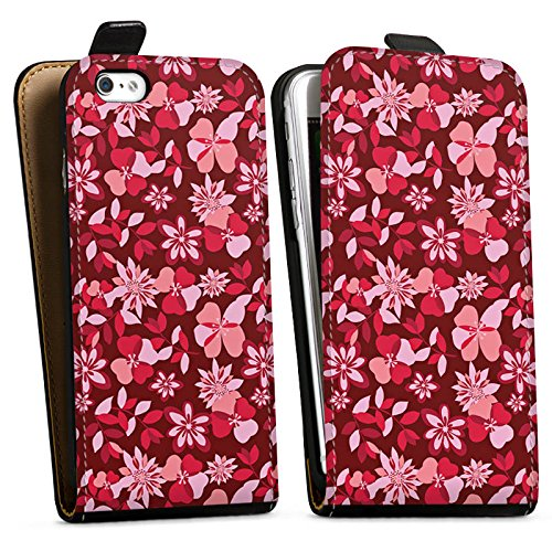 Apple iPhone X Silikon Hülle Case Schutzhülle Blumen Muster Ornament Downflip Tasche schwarz