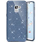Coque Galaxy S9 Plus, Coque Galaxy S9 Plus Silicone Paillette, SainCat Ultra Slim Bling Bling Silicone Case pour Samsung Galaxy S9 Plus, 3 in 1 Brillante Gel Silicone Glitter Soft Gel TPU Cover Anti-Scratch Silicone Case, Coque Souple Ultra Mince Housse Silicone Ultra Thin Shockproof Shell Ultra Slim Bumper Femme Case Skin Étui Case Coque Anti Choc Housse Bumper Cover pour Samsung Galaxy S9 Plus-Gris Foncé