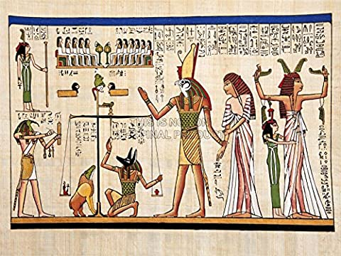 MP PAINTING ANCIENT EGYPTIAN HEIROGLYPHICS HORUS THOTH ANUBIS MURAL 18x24 INCH ART POSTER PRINT PICTURE LV6015