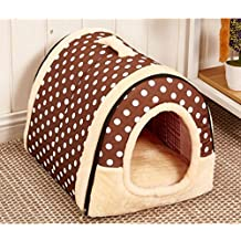 LA VIE 2 en 1 Casa y Sofá para Mascotas Plegable Cueva de Viaje para Gatos
