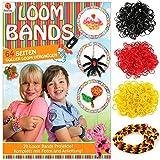 K7plus® Loom Bands Anleitungsheft - über 60 Seiten - kreative Loom Bandz Ideen - dazu ein 900 teiliges Loom Band Set in den Deutschland Farben - schwarz / rot / gelb