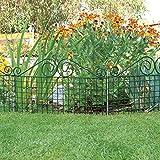 bellissa Rabattenzaun Ambiente Verzierung - 7514 - Dekorativer Zierzaun für Abgrenzungen im Garten - 76 x 44 cm - grün - 3er Set